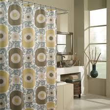 Geometric Burnout Shower Curtain Tan Target Shower Curtains Interior Design
