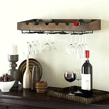 Pottery Barn Wine Racks Wine Rack Wall Mounted Wood Wine Glass Holder Vintners Wall
