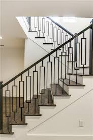 Banister Railing Ideas Love This Mid Century Modern Bannister Railing Home Details
