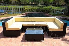 Modern Wicker Patio Furniture 7 Piece Modern Wicker Outdoor Patio Furniture Sectional Sofa W