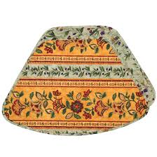 quilted placemats for round tables mustard yellow and green striped quilted wedge shaped round table