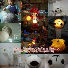 lantern making with recycled materials www timeforcraft blogspot