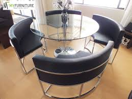 Round Hideaway Dining Set Details About Round Glass Dining Table - Dining room table with hidden chairs