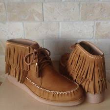 ugg s mammoth boots ugg mammoth charcoal fringe moccasin style festival womens boots
