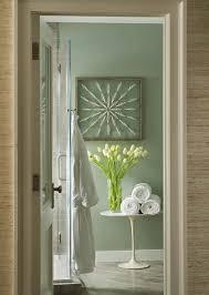 Grey And Green Bathrooms Yellow And Grey Wallpaper Transitional Bathroom Martha O