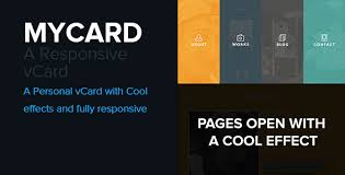 Html5 Resume Website Templates U2014 Mycard Responsive Resume Cv Html5 Template
