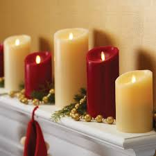 luminara flameless real wax real feel candle