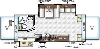 Rockwood Trailers Floor Plans Forest River Rockwood Roo 24ws Rvs For Sale Camping World Rv Sales