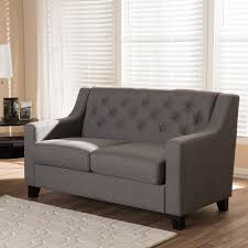 Tufted Sofa And Loveseat by Baxton Studio Arcadia Modern And Contemporary Grey Fabric