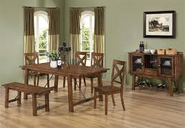 lawson 7 piece counter height dining set in rustic oak finish by