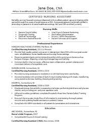 Nursing Assistant Job Description For Resume by Assisted Living Resume Cna Stylish Inspiration Resume Cna 10 Cna