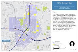 Atlanta Neighborhood Map by Neighborhood Boundaries
