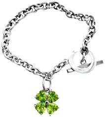 chain bracelet sterling silver images Red envelope silver sterling chain with 4 leaf clover peridot jpg