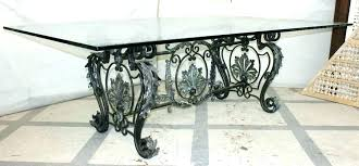 wrought iron table base for granite wrought iron table base coffee table wrought iron coffee table iron