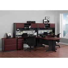 ameriwood home pursuit executive desk cherry gray walmart com