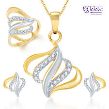 gold set for marriage buy sukkhi traditional marriage gold and rhodium plated cz pendant