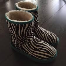ugg zebra boots sale 44 ugg shoes zebra print teal pony hair ugg boots from