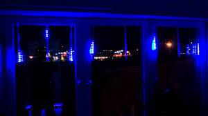 blå 30cm meteor shower led light