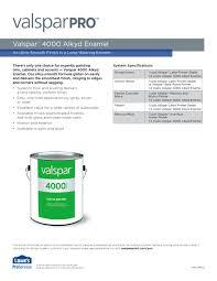 valspar 4000 alkyd enamel valspar pdf catalogues