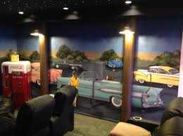 Home Theater Design Jobs by 50 U0027s Style Drive In Theater Room In A Basement In Monroe Mi