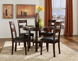 standard 10022 5pc pendwood round dining table with 4 chairs