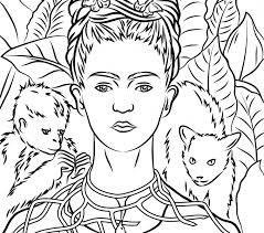 frida kahlo coloring pages kids coloring europe travel guides com