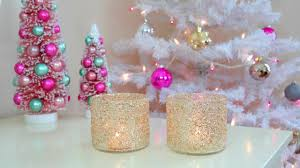Diy Bedroom Decor by Diy Christmas Winter Room Decor Frosty Glitter Jars Youtube