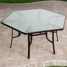 Patio Table Size Furniture Ideas Hexagon Patio Table With Teak Patio Furniture And