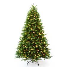 pre lit 7 ft christmas trees