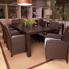Patio Dining Furniture Patio Patio Furniture Dining Set Brown Round Modern Wooden Patio