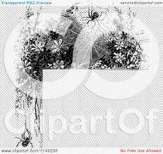 spider transparent background clipart of a retro vintage black and white spider web corner
