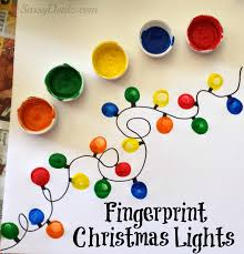christmas u0026 winter fingerprint craft ideas for kids light crafts