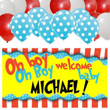dr seuss personalized baby shower banner u0026 30 balloon kit