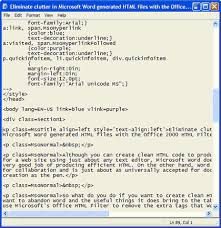 Text Decoration Html Eliminate Clutter In Microsoft Word Generated Html Files With The