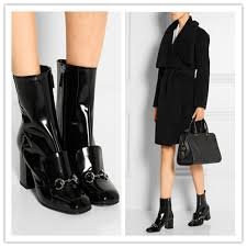 womens boots block heel boots patent picture more detailed picture about catwalk