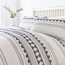 linea aztec jacquard duvet cover set house of fraser
