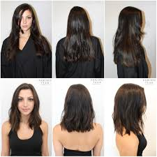 before and after picuters of long to short hair from long to short for summer ramirez tran salon