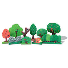 wooden tree set for small world play