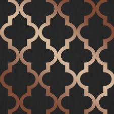 henderson interiors camden trellis wallpaper charcoal copper
