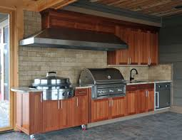furniture outdoor kitchen idea dark brick kitchen cabinet