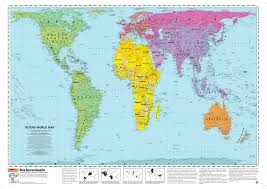 Map Of The World Countries Peters Projection Map Widely Used In Educational And Business Circles