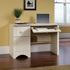 Small White Reception Desk by Amazon Com Sauder Harbor View Computer Desk Antiqued White