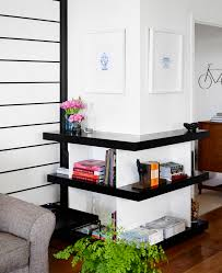 Livingroom Shelves How To Style Your Corner Shelving Systems