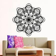 Wall Decals Mandala Ornament Indian by Modern Style Home Decor Mandala Indian Pattern Yoga Wall Sticker