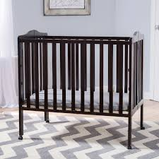 delta children portable folding crib with mattress dark espresso