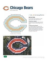 chicago bears ornament magnet made pattern football ornament