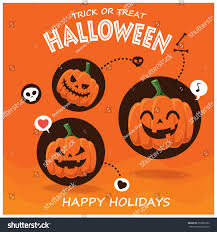 vintage halloween flyer background vintage halloween poster design vector jack stock vector 653382556