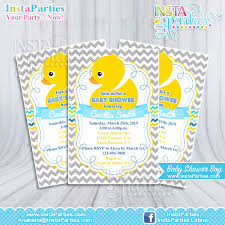 duck baby shower invitations baby shower invitations boy rubber ducky yellow welcome party blue