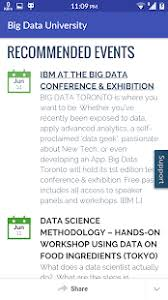 big data class cognitive class previously big data android apps on