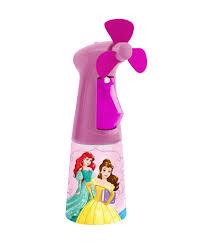 water bottle misting fan disney princess water misting fan fmc0016 o2cool